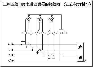 各类三相四线电表接线图