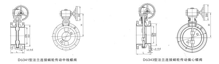 法兰式衬氟蝶阀D341F46