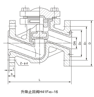 升降式衬氟止回阀H41F46
