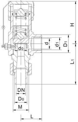 弹簧微启式外螺纹安全阀A21F、A21H、A21Y