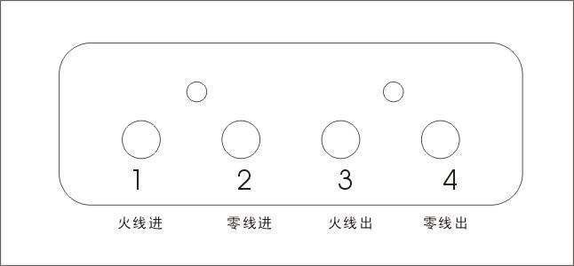 单相电表接线图图片