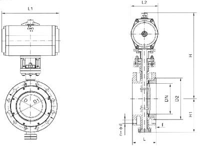 test&inspection jb/t9002 api598注:系列蝶阀结构长度及连接法兰尺寸