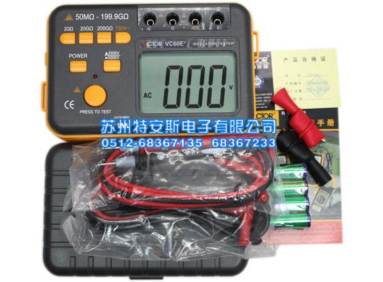vc60e+-深圳胜利兆欧表victor60e+绝缘电阻测试仪