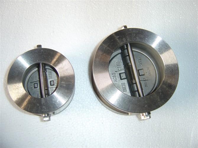 双瓣式蝶形止回阀 > h76h对夹双瓣式蝶形止回阀  压力级 口径 尺寸(mm图片