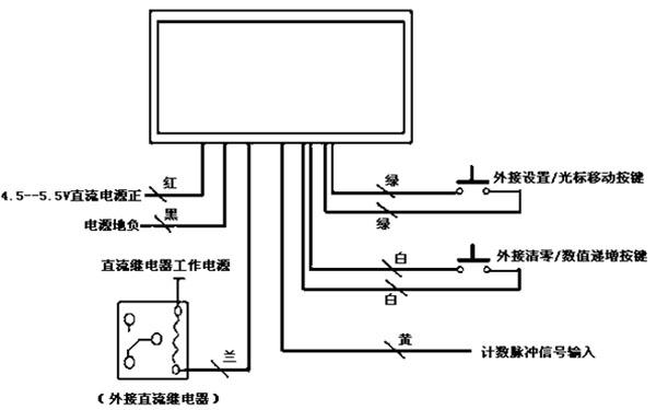 带设置,oc门输出的三位数显计数器