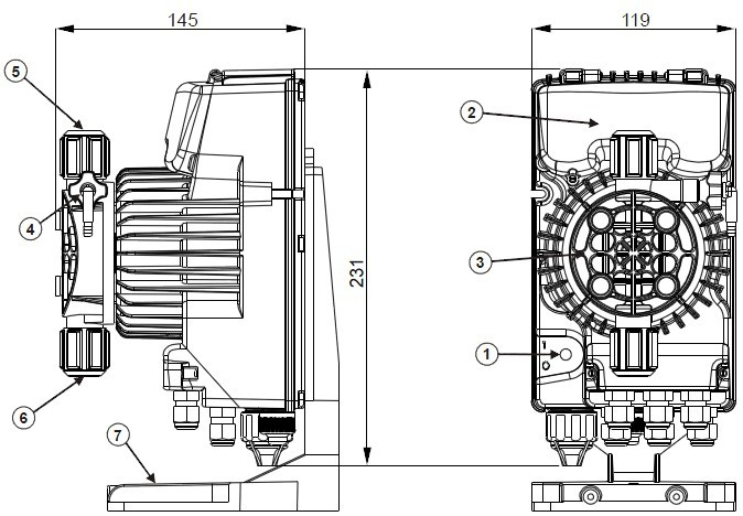 底阀,注射阀,透明吸液管,透明排气阀软管,不透明排液管,固定螺栓图片