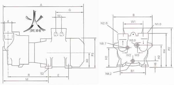 三,ska系列水环式真空泵 性能参数: 产品型号 极限压力