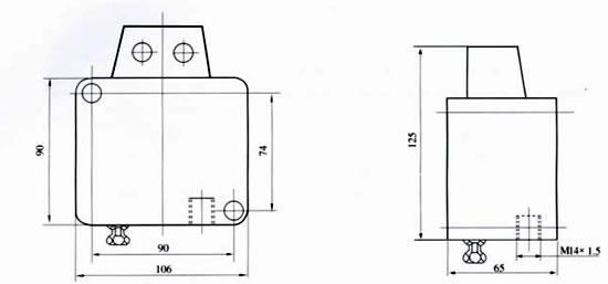jb/t6802-1993压力继电器外形尺寸