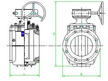 球型偏心旋塞阀】产品外形及结构尺寸