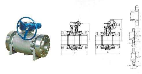 蜗轮固定球阀的大枢轴结构保证在高压下准确的球体中心位置,保证了