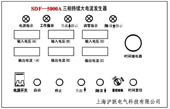 其工作原理图如下: 五,sdf-1000a/5000a 三相持续大电流发生器控制