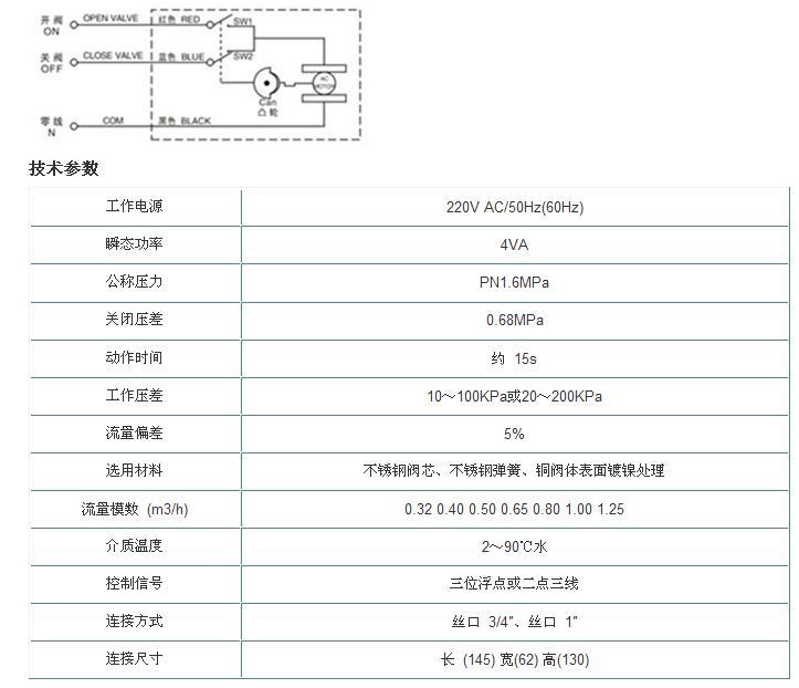 电动调节阀 )   动态平衡电动阀接线图;